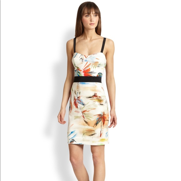 Milly Dresses & Skirts - Milly Tropical Print Bustier Dress